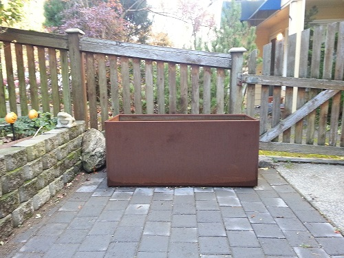 corten planter box  rust