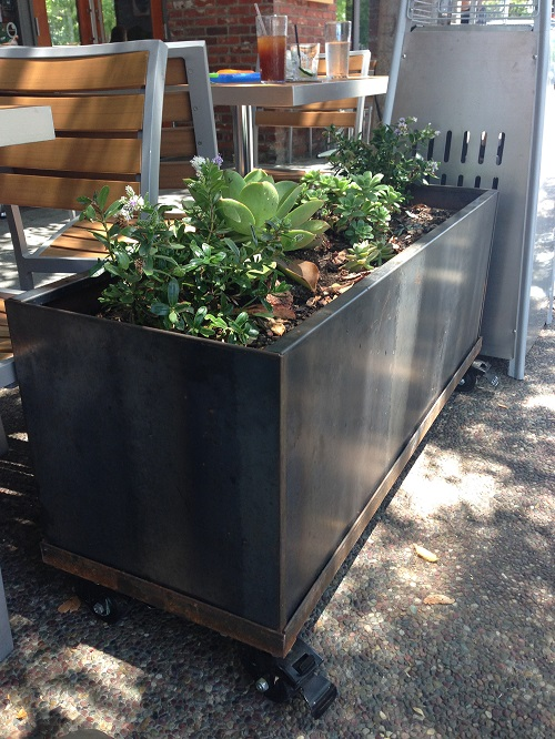 corten planter patio 2