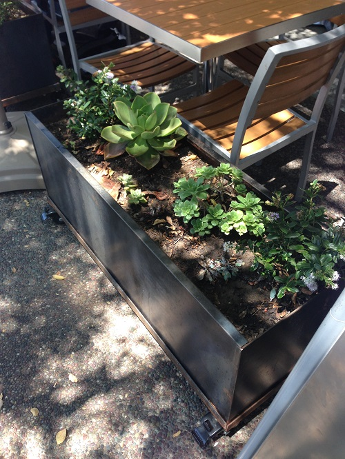 corten planter patio 3