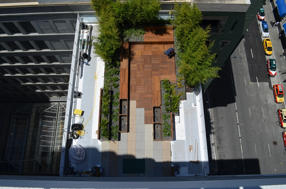 Corten Steel Planters Roof Terrace