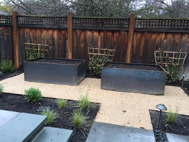 custom corten steel planter beds