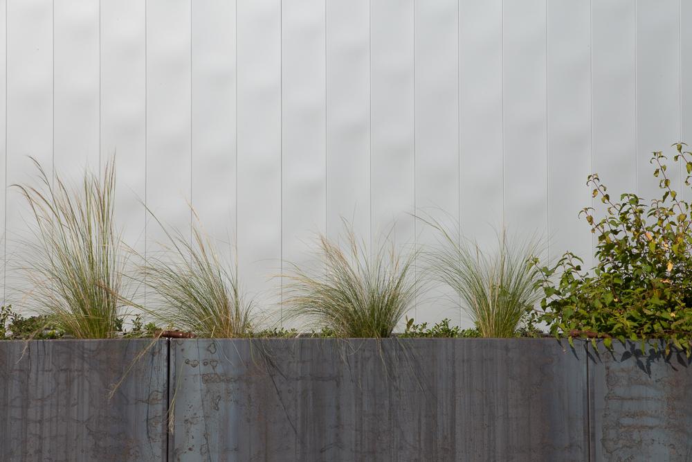corten steel planter portland